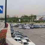 محوطه ورودی و پارکینگ نمایشگاه