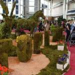 غرفه توپیاری طرح حیوانات و تولید حروف و نوشته با استفاده از گیاه