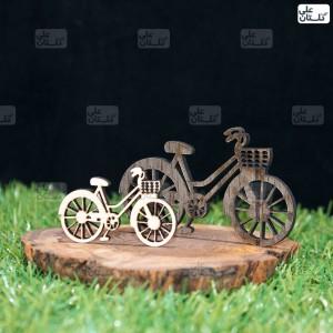 دوچرخه کوچک و بزرگ کوچک: 4.5 در 2 سانتی متر بزرگ 7.5 در 4.5 سانتی متر